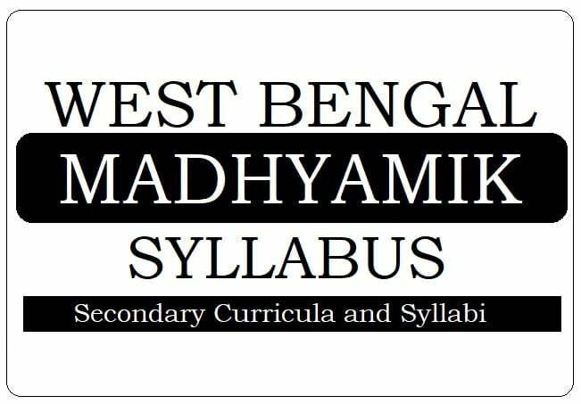 WB Madhyamik Syllabus 2020