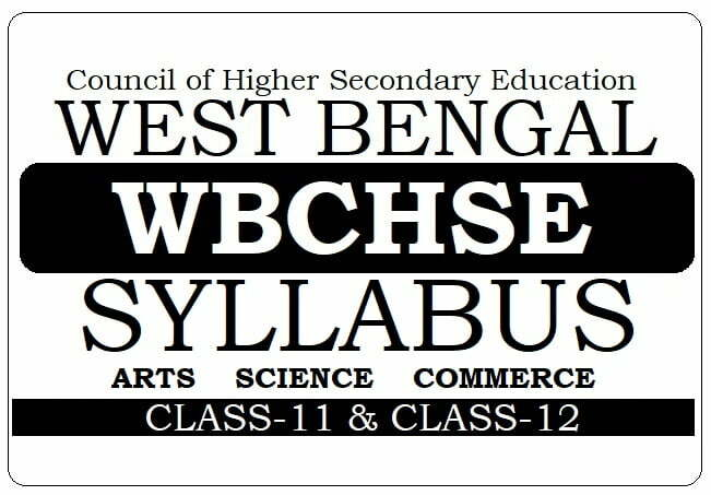 West Bengal HS Syllabus 2021