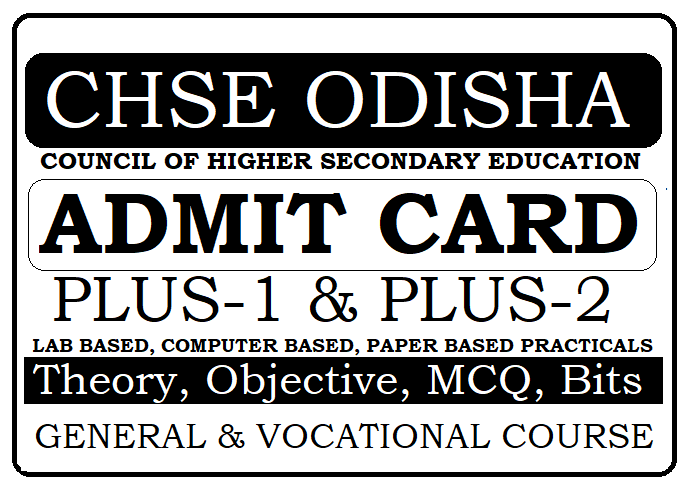 CHSE Odisha Plus Two Practical Test Admit Card 2021