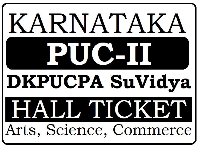 Kar 2nd Puc Hall Ticket 2020