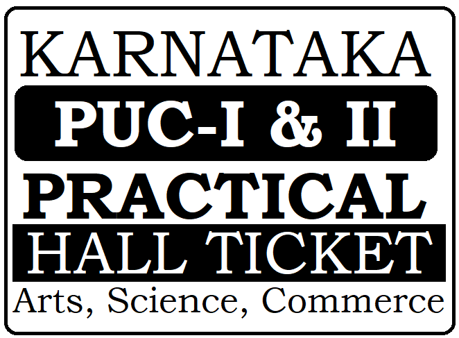 Kar 1st & 2nd PUC Practical Test Hall Ticket 2020