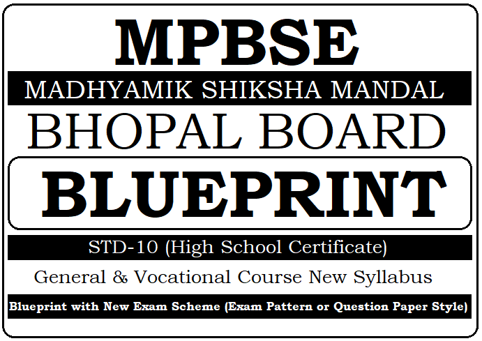 MP Board 10th Blueprint 2021 Exam Pattern, Question Paper Style New Exam Marking Scheme