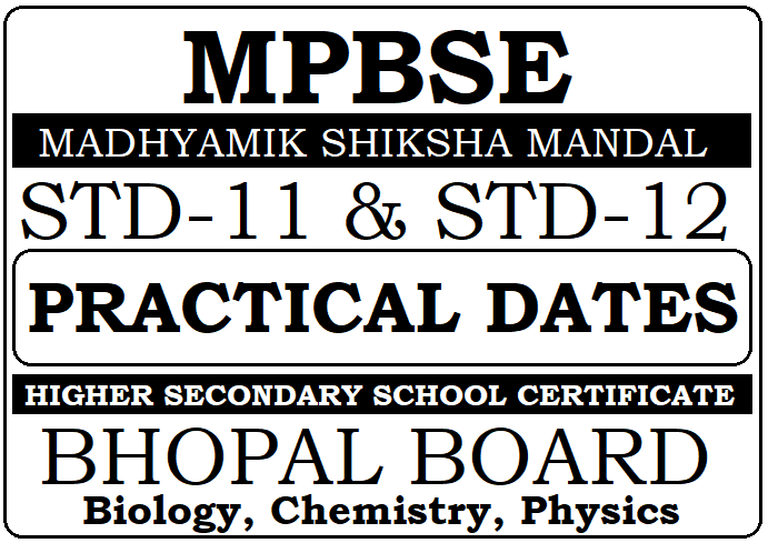 MP Board 11th, 12th Practical Test Dates 2021