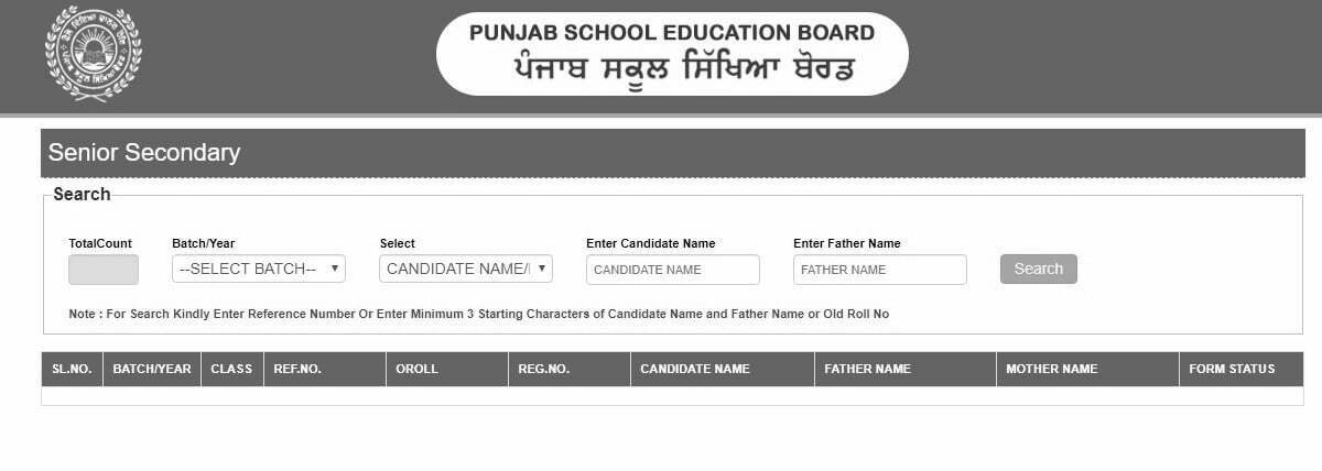 PSEB Sr Secondary Admit Card 2021, Punjab Board Class 11th and 12th Roll Number 2021