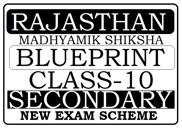 RBSE 10th Blueprint 2021 Ajmer Board 10th New Exam Scheme 2021