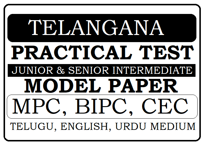 Telangana Intermediate Practical Test Model Paper 2020