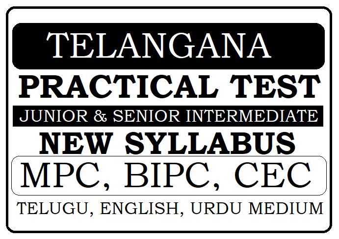 TS 1st & 2nd Inter Practical Test Syllabus 2021
