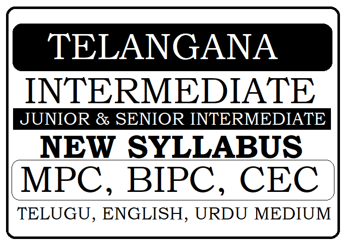 TS 1st & 2nd Inter New Syllabus 2021 Telangana Intermediate Syllabus 2021