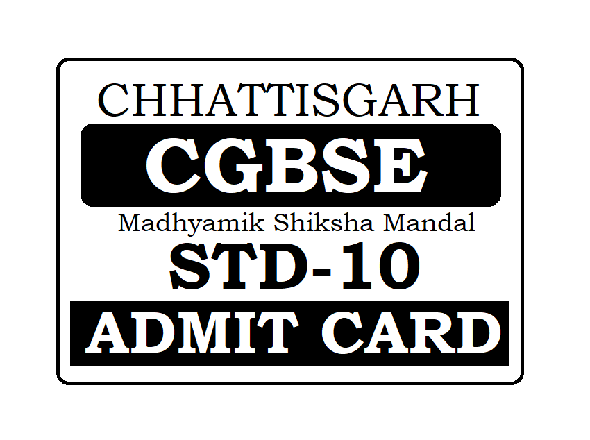 CGBSE 10th Admit Card 2021 CG Board 10th Class Admit Card 2021
