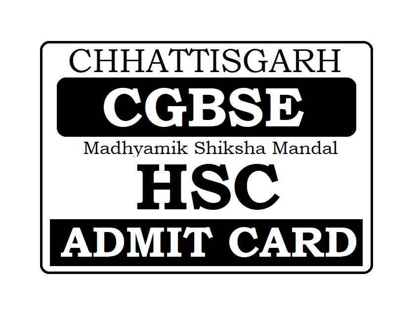 CGBSE 12th Admit Card 2020, CG Board HSC Admit Card 2020 Download