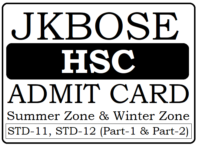 JKBPSE 12th Admit Card 2020