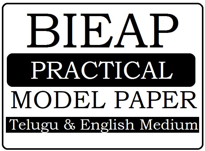 AP Inter Practical Model Paper 2020