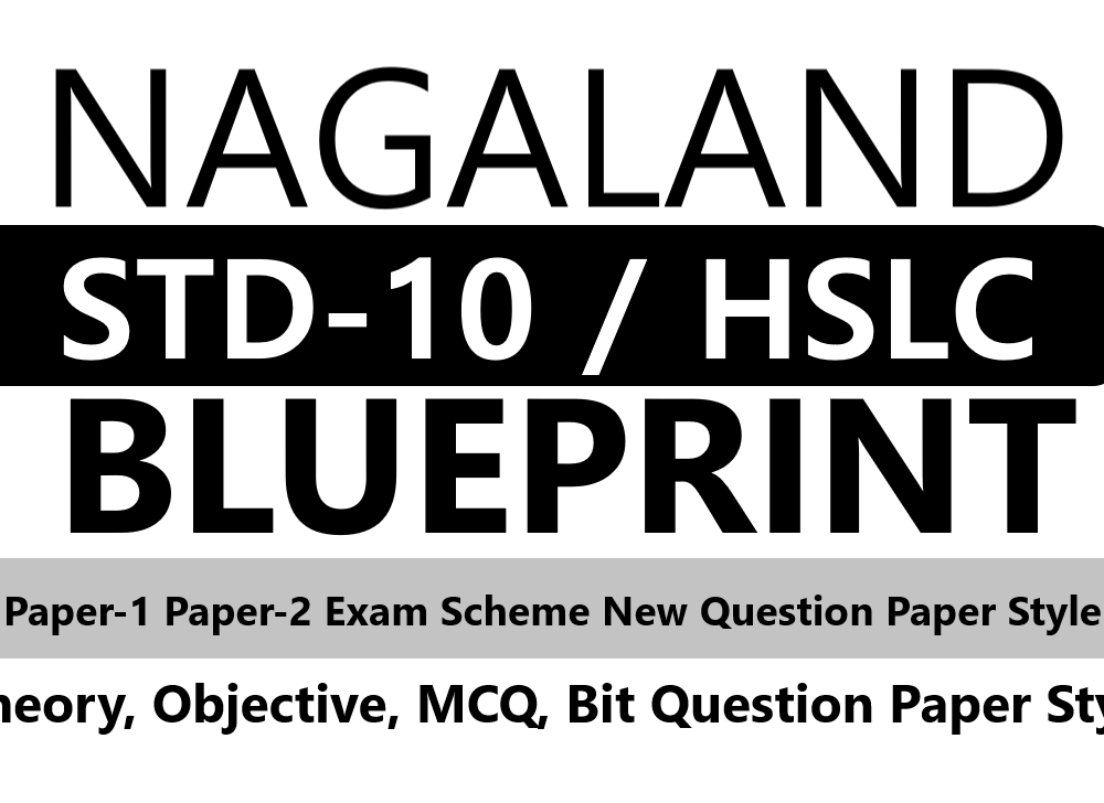 NBSE 10th Blueprint 2020 Nagaland HSLC Blueprint 2020