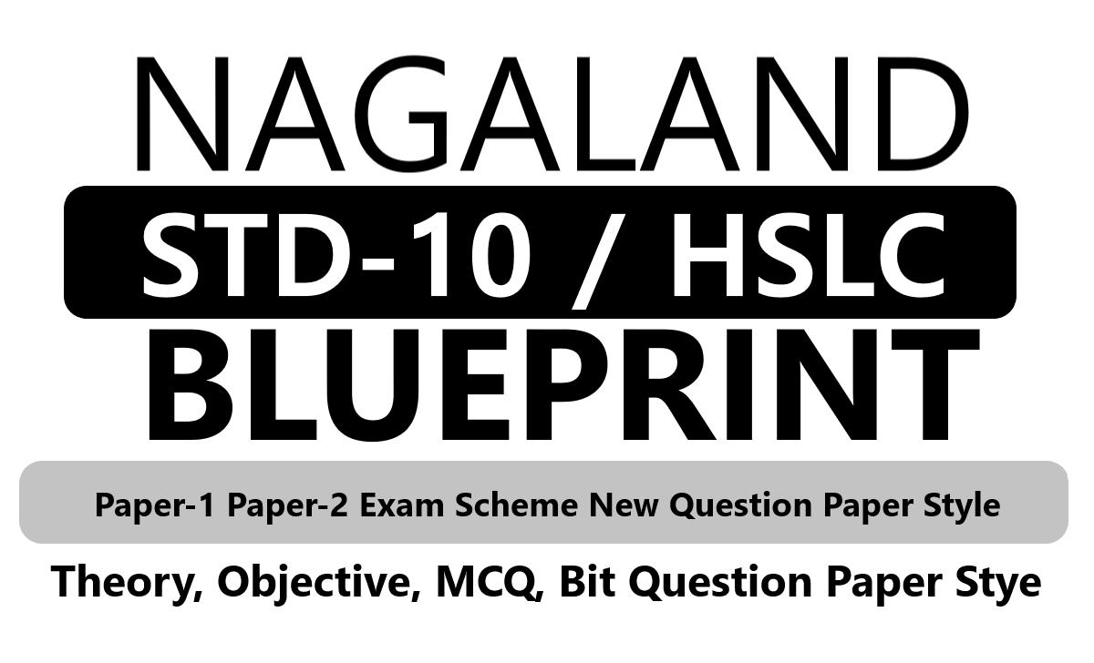 NBSE 10th Blueprint 2020 Nagaland HSLC Blueprint 2020