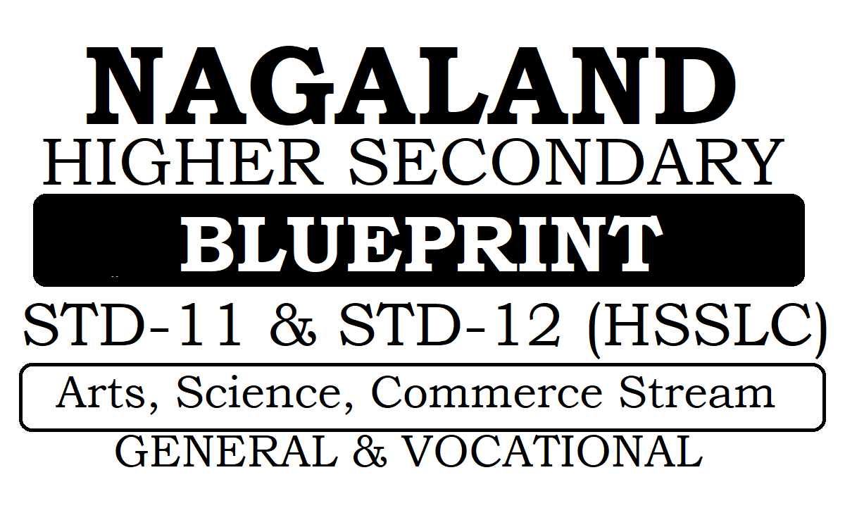NBSE HSSLC Blueprint 2021 Nagaland 11th & 12th Blueprint 2021