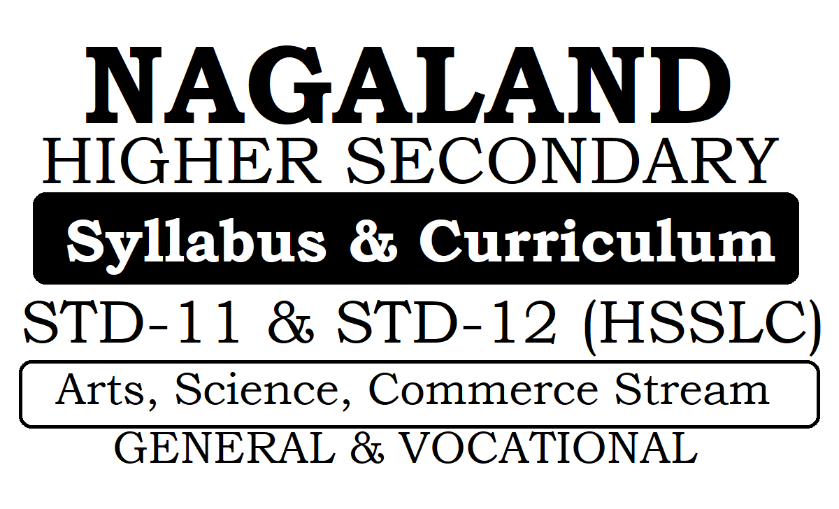 Nagaland 11th & 12th Syllabus 2020 (NBSE HSSLC New Syllabus 2020)