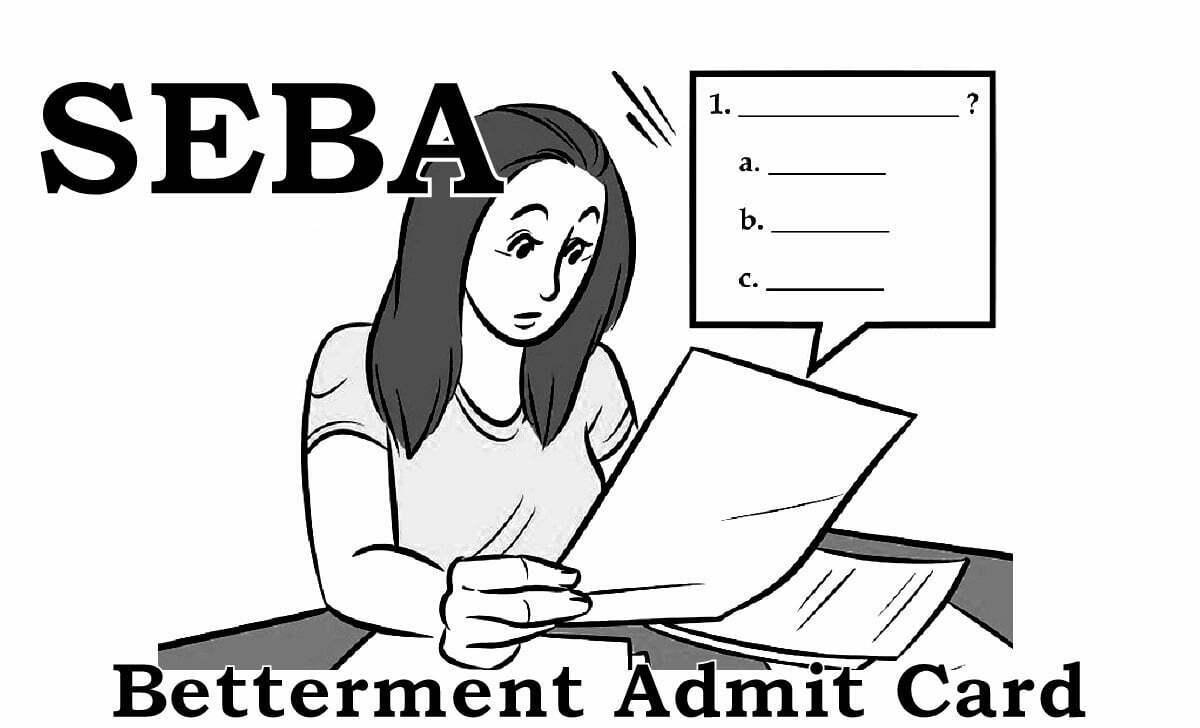 SEBA HSLC Improvement Admit Card 2021