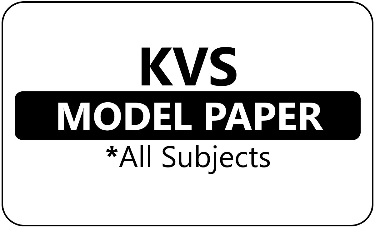 KVS 5th Class Model Paper 2021