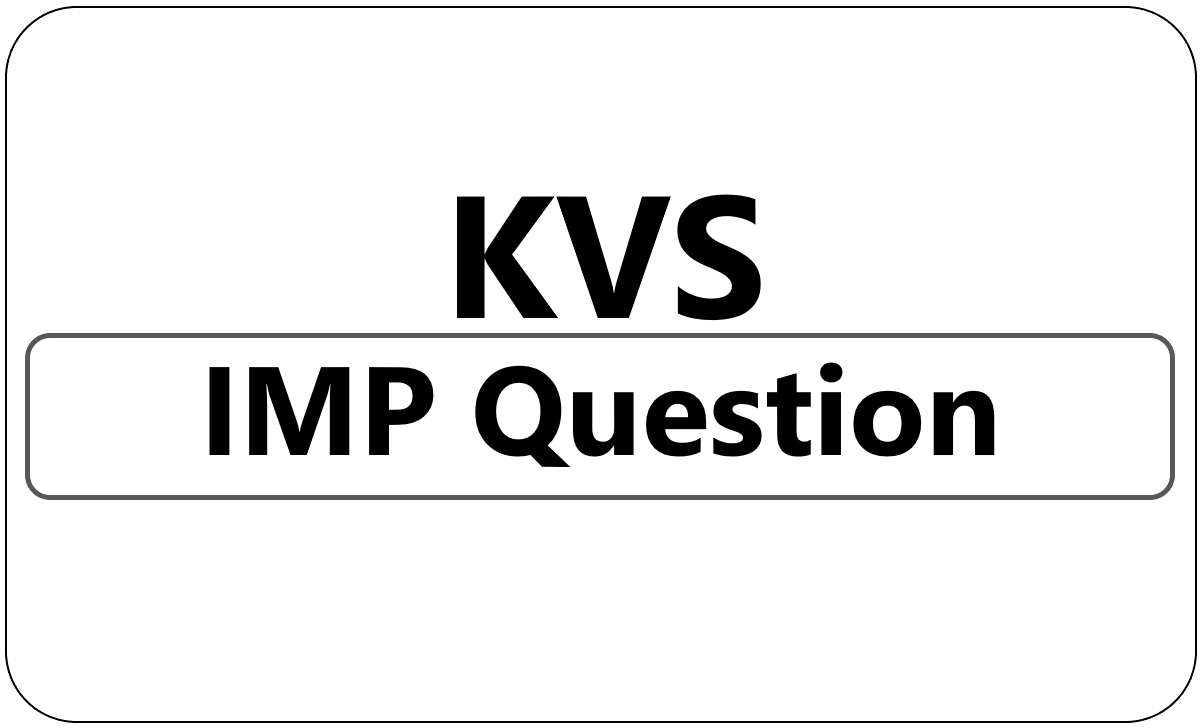KVS 5th Class important Question 2021