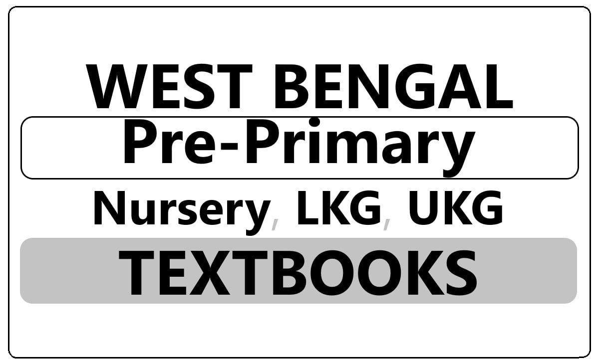 WB Nursery, LKG, UKG Books 2021