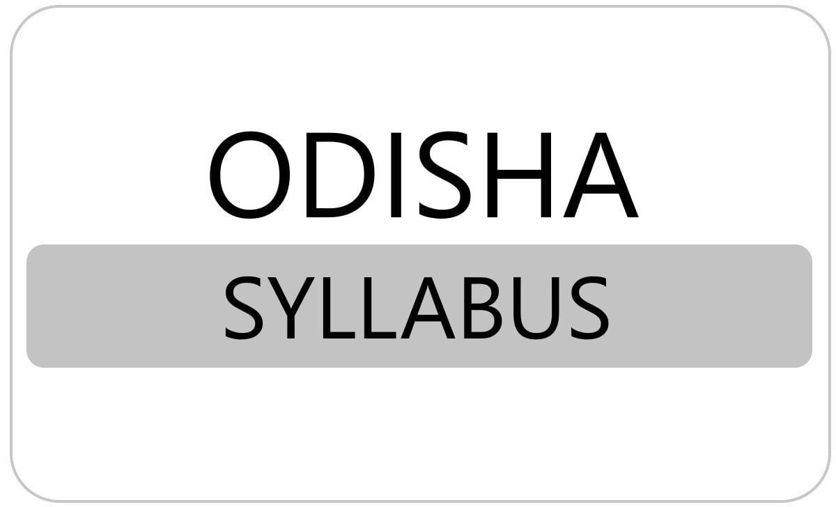 SCERT Odisha 6th, 7th, 8th, 9th Syllabus 2021