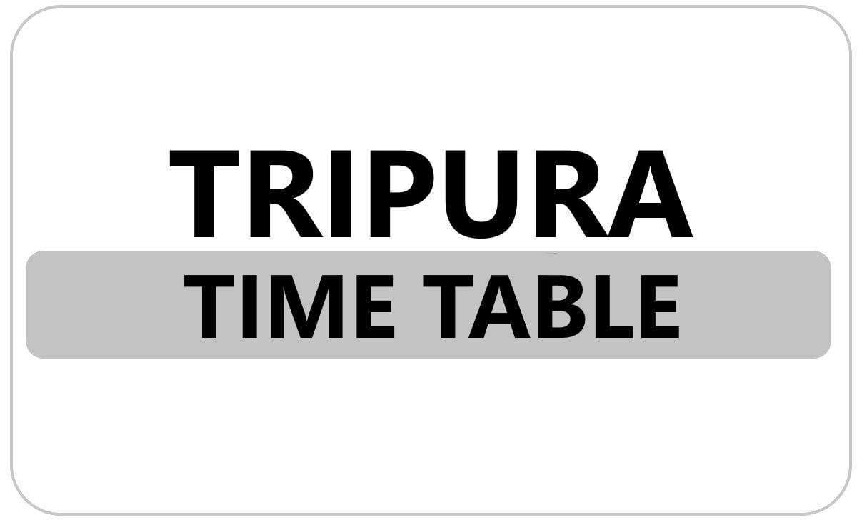 Tripura Board 10th Time Table 2022