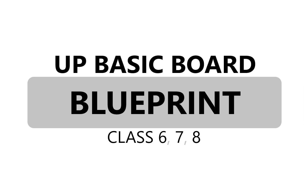 UP Board 6th, 7th, 8th Blueprint 2021