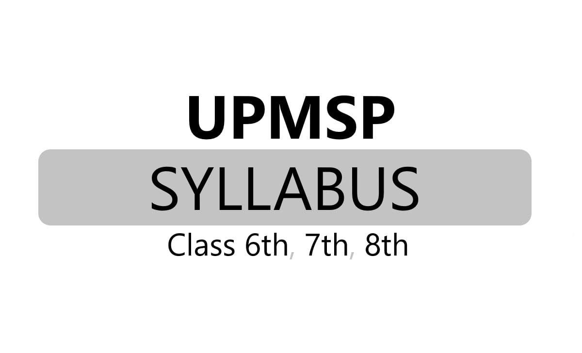 UP Basic Board 6th, 7th, 8th Syllabus 2021