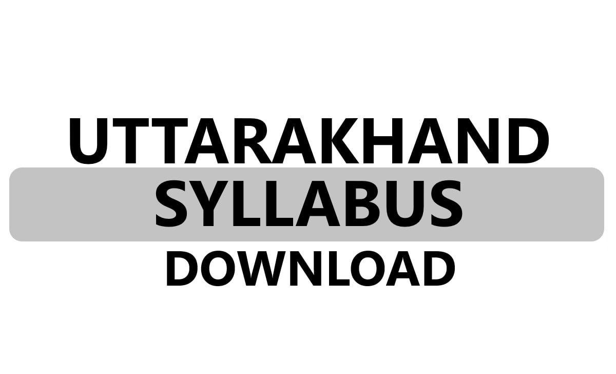 Uttarakhand Board 1st, 2nd, 3rd, 4th, 5th Syllabus 2021