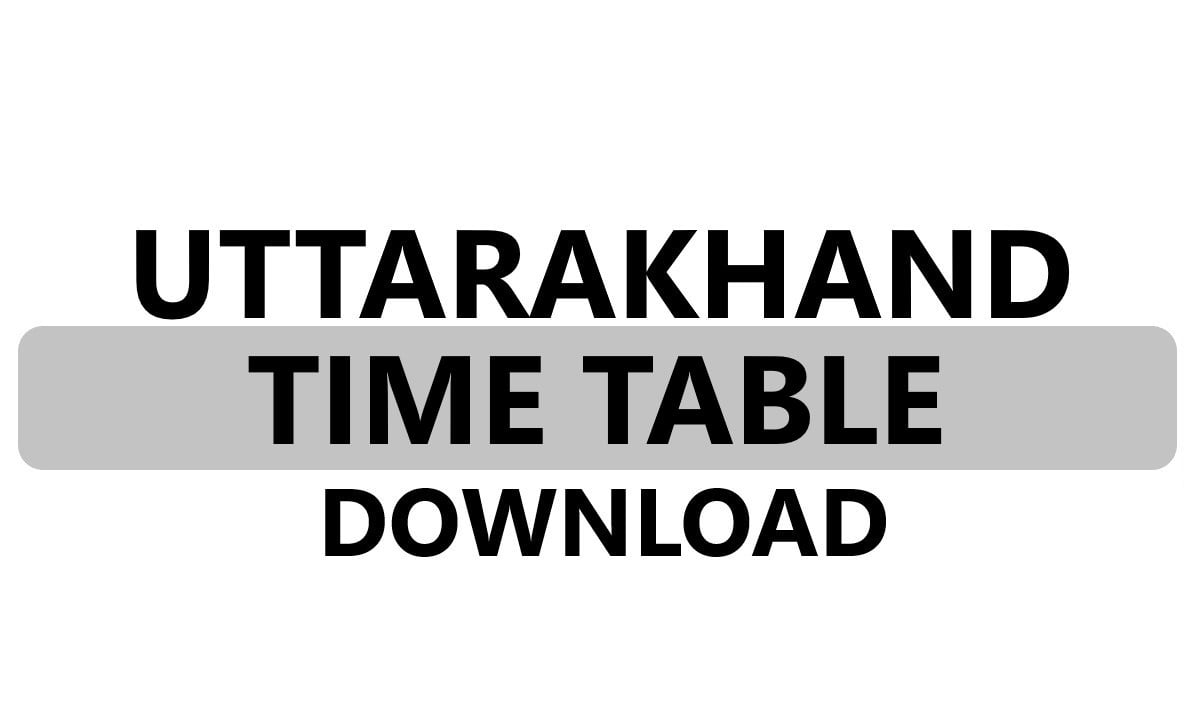 Uttarakhand Board 10th Time Table 2021