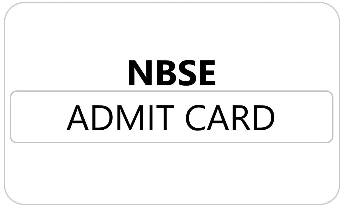 NBSE HSSLC Admit Card 2021