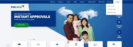 TVS Credit Online Payment